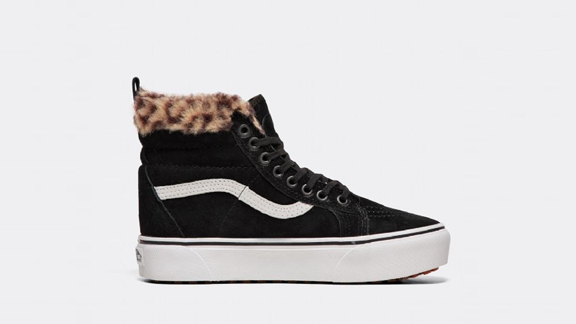29174a30d6 Vans SK8-Hi MTE Platform Black Leopard Womens