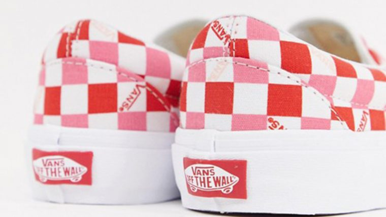 Vans Slip On Checkerboard Red White