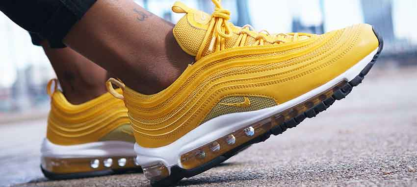 3702ad43cf64c3 An Exclusive On Foot Look At The Mustard Nike Air Max 97