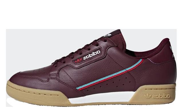 adidas Continental 80 Maroon B41677
