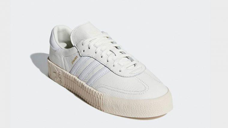 adidas sambarose white linen cheap online