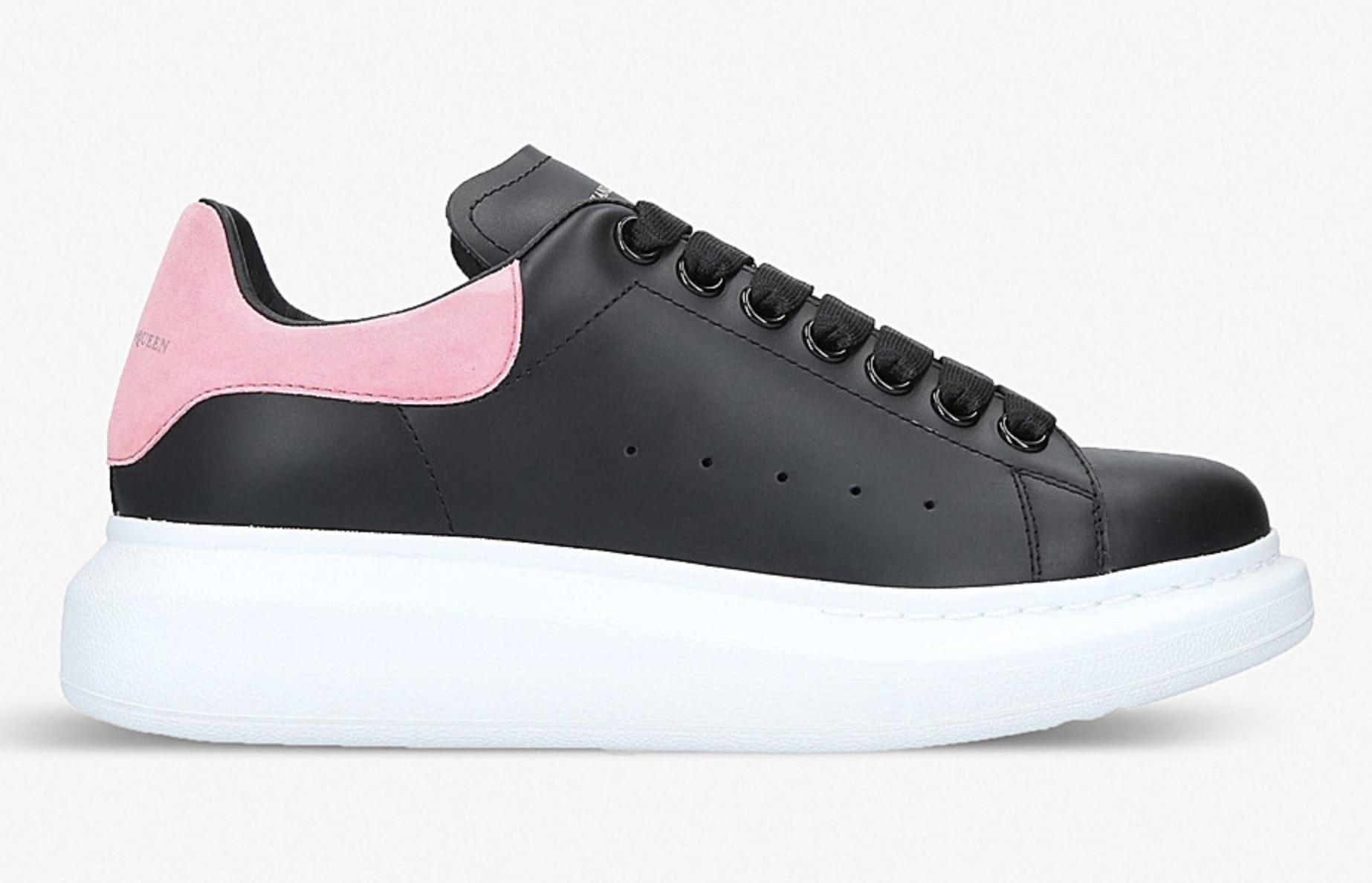 black and pink alexander mcqueen's