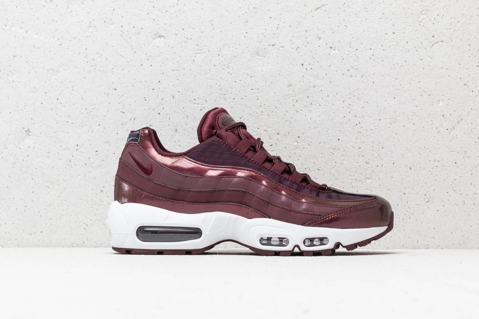 san francisco 52ea8 1eb4d Nike Air Max 95 Metallic Burgundy   The Sole Womens