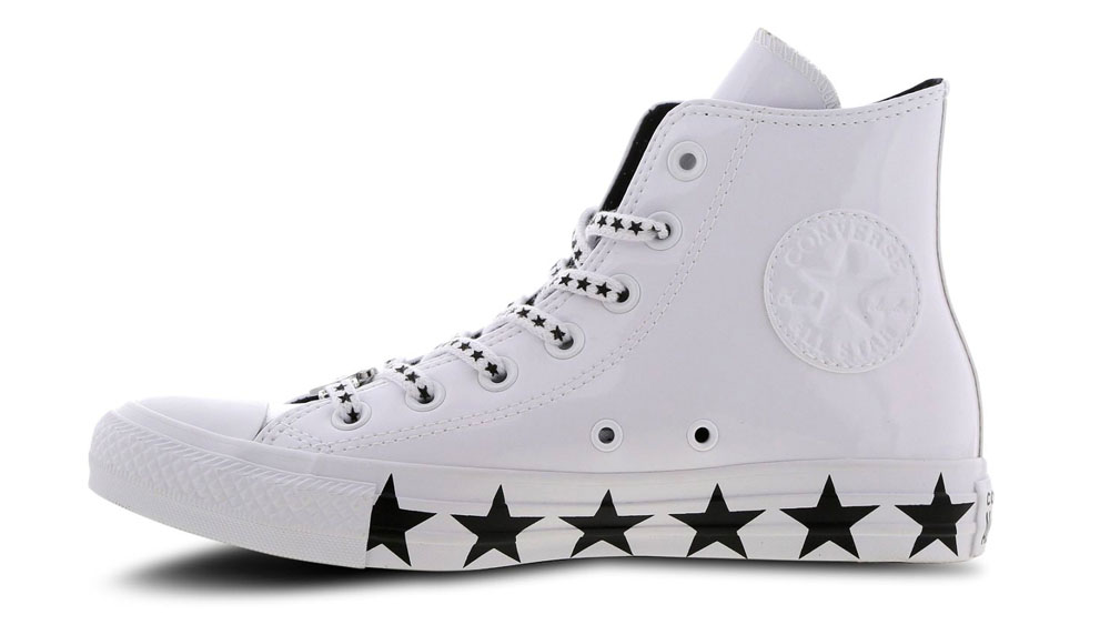 more photos 574d3 35715 Converse X Miley Cyrus Chuck Taylor All Star Hi Patent White