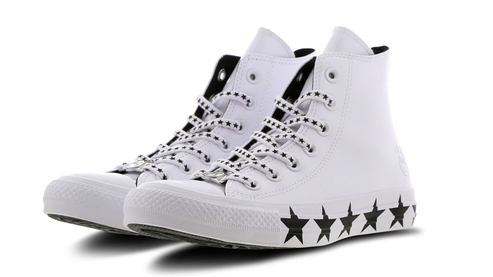 Converse X Miley Cyrus Chuck Taylor All Star Hi Patent White