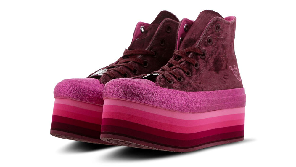 Converse X Miley Cyrus Chuck Taylor All Star Platform Velvet Pink