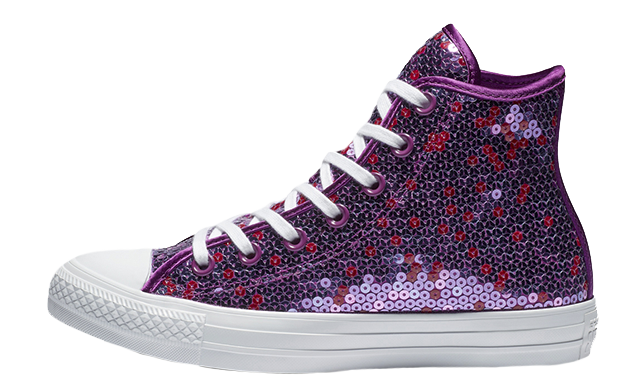 1c5aec5b92a9 The Converse Chuck Taylor All Star Sequin Holiday Scene High Top Violet is  available now