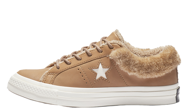 362fe5d70ba1 Converse One Star Street Warmer Leather Low Top Brown
