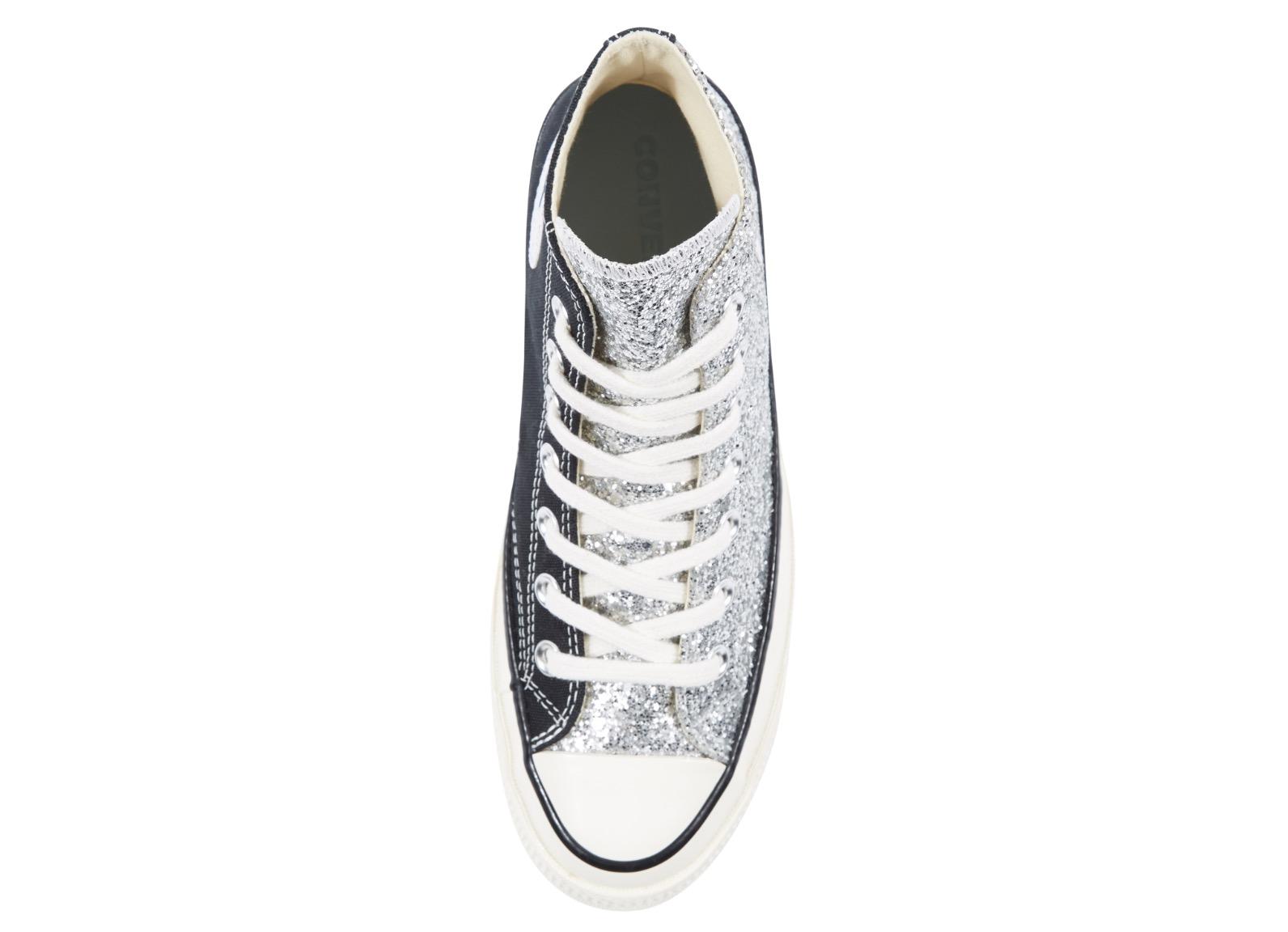 Converse x Chiara Chuck 70 Glitter High Top Black Silver | 563831C