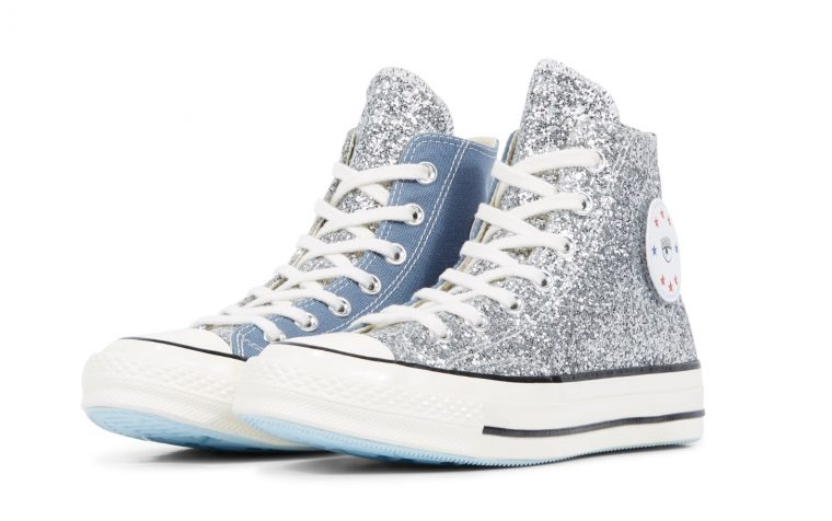 Converse x Chiara Chuck 70 Glitter High Top Blue | 563829C