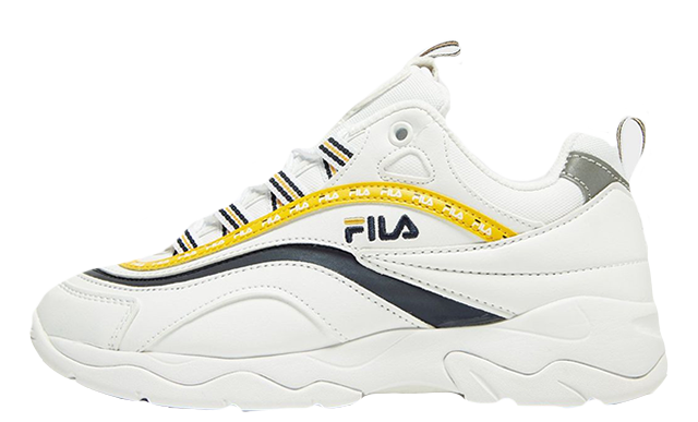 Fila Ray White Yellow Womens