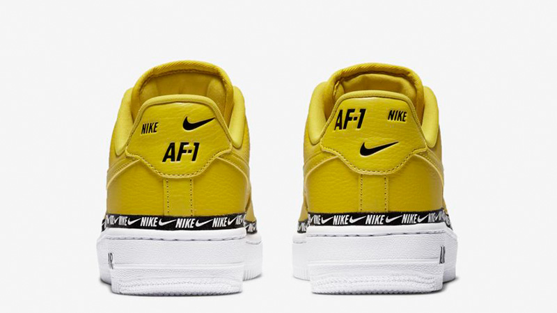 size 40 3c5de 5e193 Nike Air Force 1 07 SE Premium Overbranded Yellow AH6827-700 01