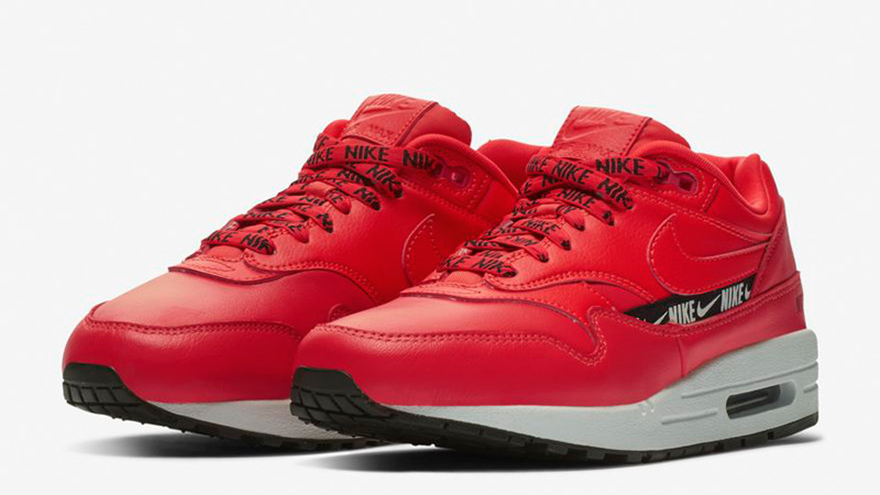 Nike Air Max 1 SE Overbranded Red | 881101-602 | The Sole Womens