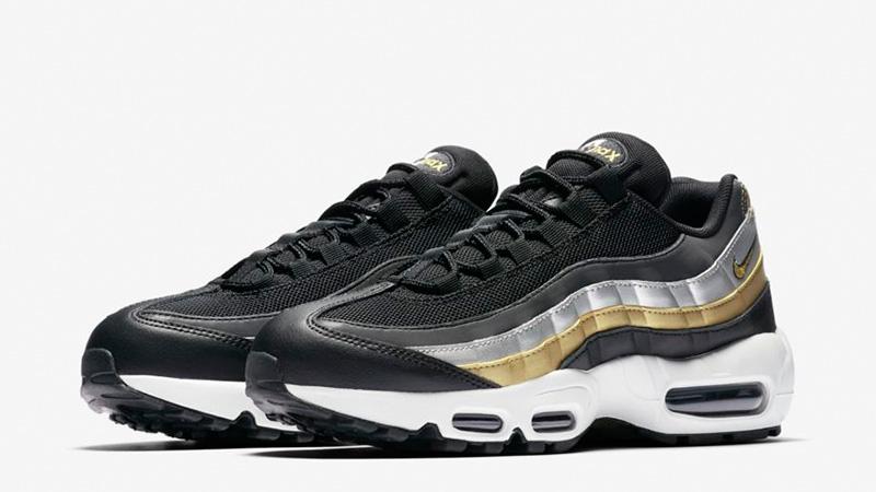 air max 95 gold black white