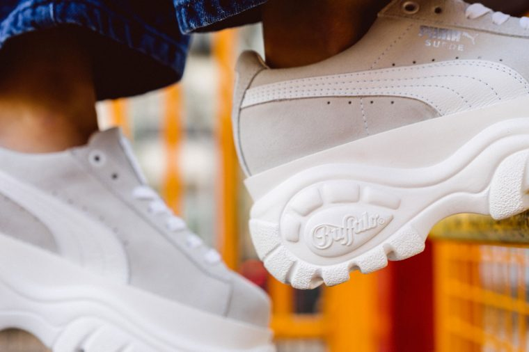 PUMA x Buffalo London's Suede Platform Sneakers