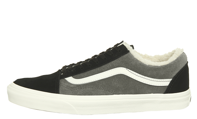 2b94dac224a The Vans Old Skool Black Pewter Sherpa is available now