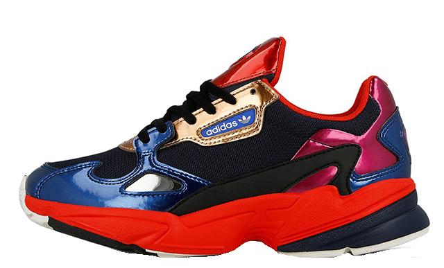 hot sale online da37a 21b32 adidas Falcon Navy Red Womens  CG6632