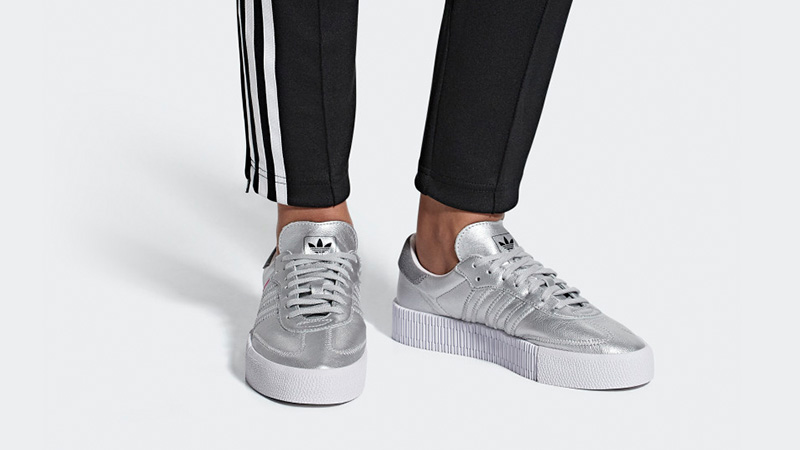 separation shoes 1004d 7b434 adidas Sambarose Silver White D96769 04