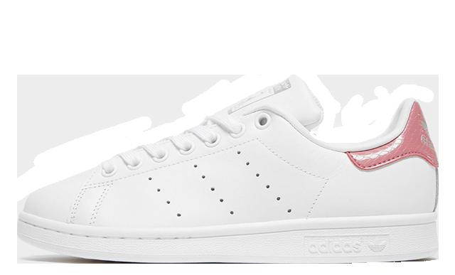adidas Stan Smith Womens White Pink