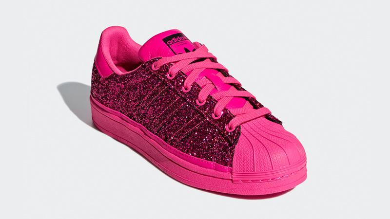 pink glitter adidas superstars