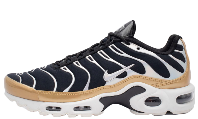 "on sale d4d4f 575e3 Nike TN Air Max Plus Black/Gold ""Metallic Pack"" 
