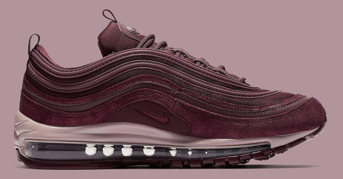 d5d6c18f7ef2 Pink   Burgundy Hues Take Over The Nike Air Max 97 In A Shining ...
