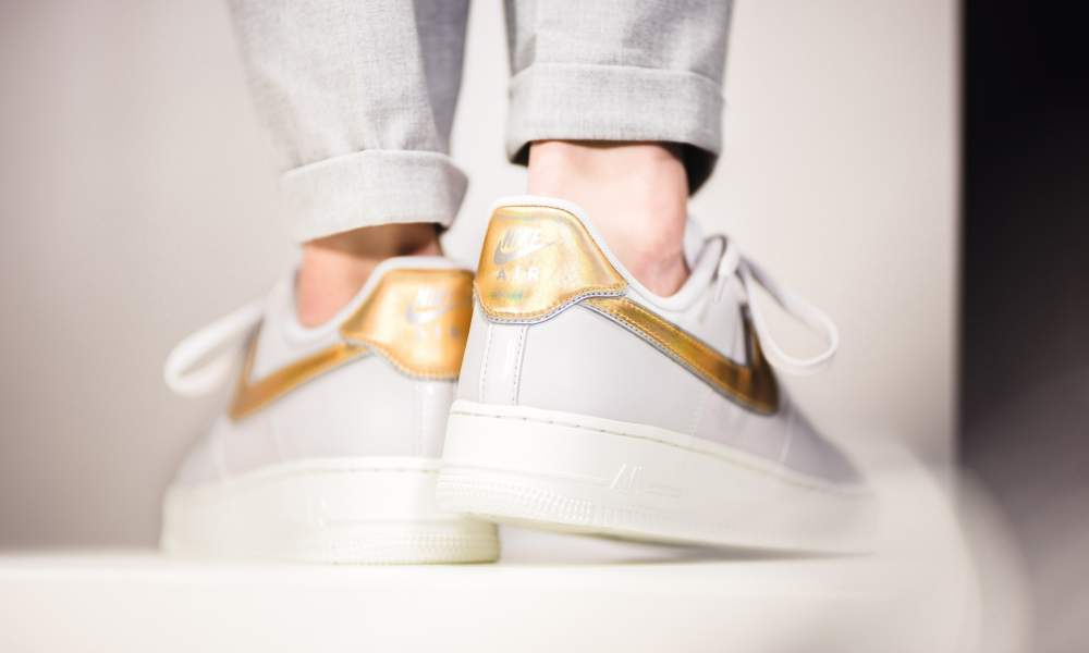 a4c3c7768e424b Nike Air Force 1  07 White Gold
