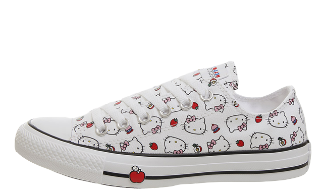 Converse All Star Low Hello Kitty White Red