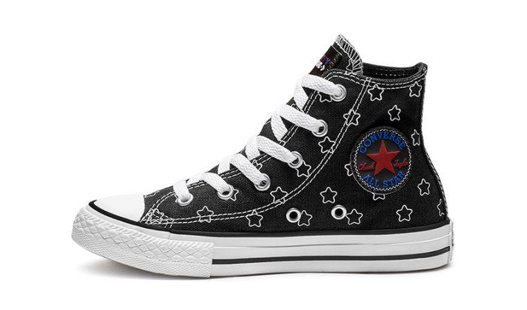Converse x Hello Kitty Chuck Taylor All Star High Top Black White | 163919F 2