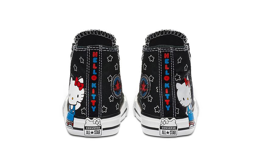 Converse x Hello Kitty Chuck Taylor All Star High Top Black White | 163919F