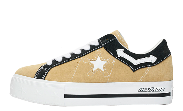 0ca406147975 Head to the links on this page to shop the Converse x MadeMe One Star  Platform Wood Black. UK true DD MM YYYY