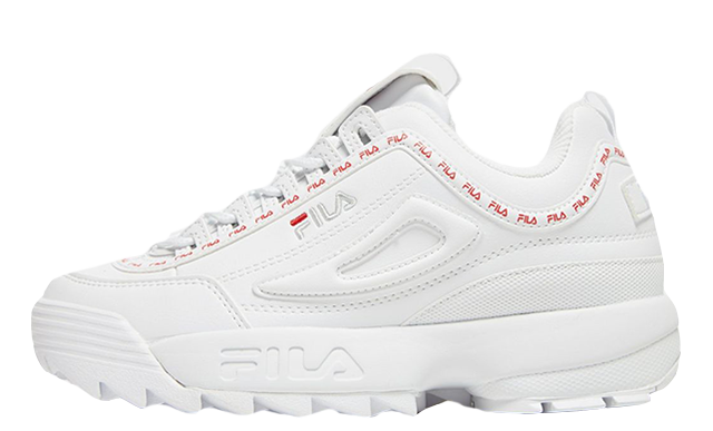 Fila Disruptor II Repeat White Womens a45fc1ab7