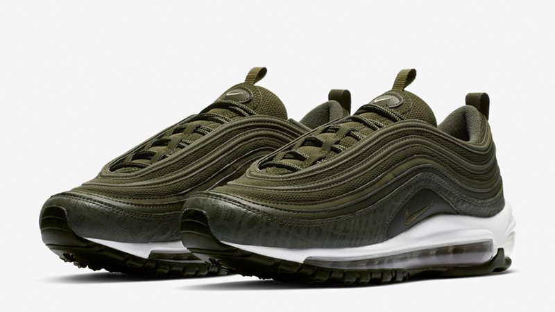 delicate colors cheap for sale buy Nike Air Max 97 LX Overbranded Cargo Khaki | AR7621-301