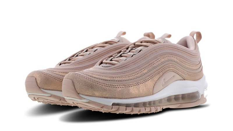 nike air max 97 particle beige on feet