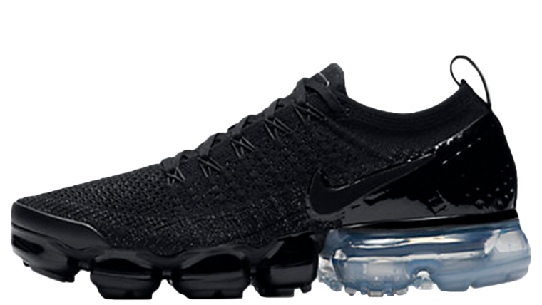Nike Air VaporMax Flyknit 2 Black Metallic Silver | 942843-014