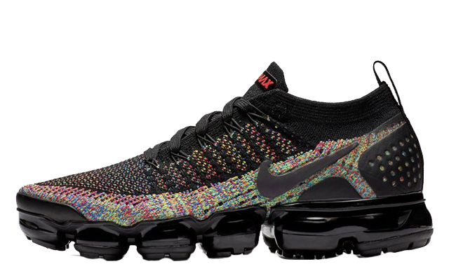 official photos 84b1b e1d48 Nike Air VaporMax Flyknit 2 Black Multi | 942843-015
