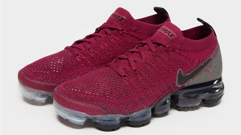 on sale 25e8e a1ffe Nike Air VaporMax Flyknit 2 Red Black Womens