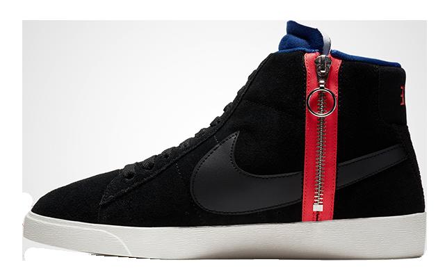 Nike Blazer Mid Rebel Black Womens BQ4022-005