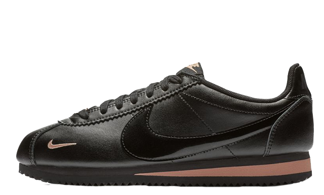 75fffdc10d4d7b Step out in style in the Nike Classic Cortez Premium Black Gold