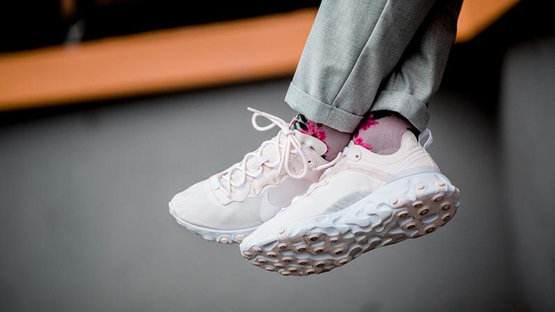 Nike React Element 55 Pale Pink White BQ2728-600 Women/'s Shoes