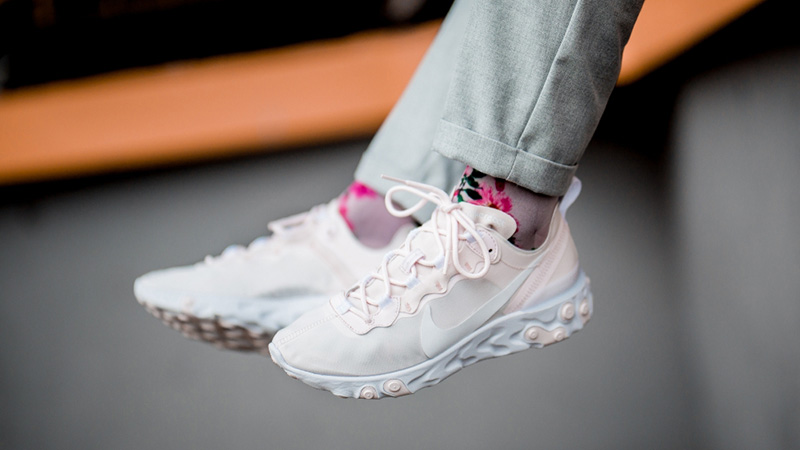 Nike React Element 55 Pink White | BQ2728 600