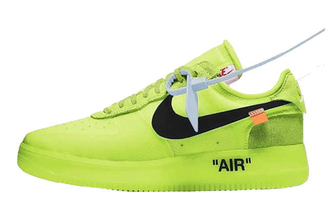 Off White x Nike Air Force 1 Volt | AO4606 700