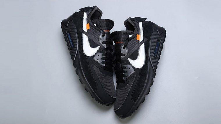 Off-White x Nike Air Max 90 Black 02 thumbnail image