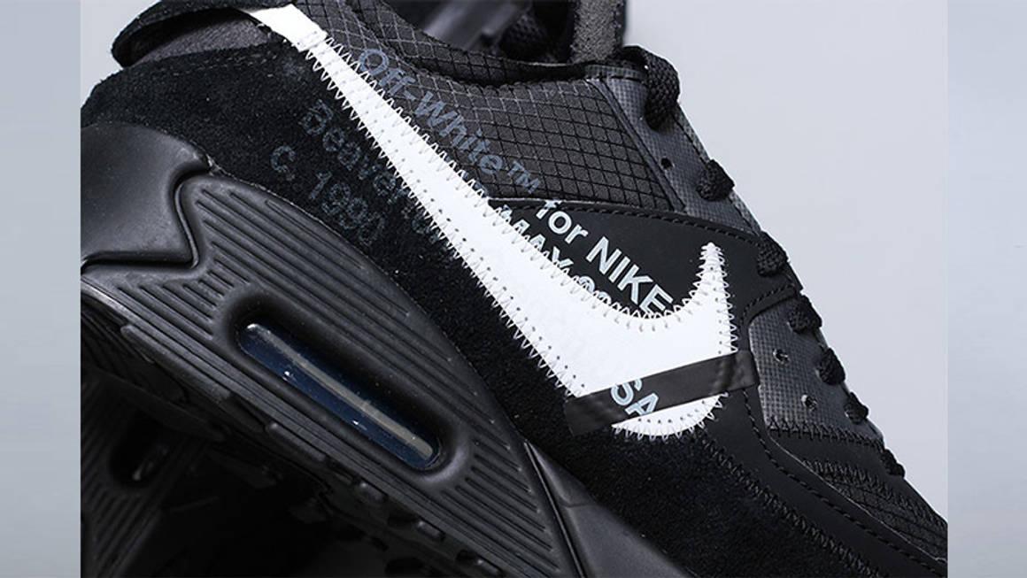 Off White x Nike Air Max 90 Black 03 w1160
