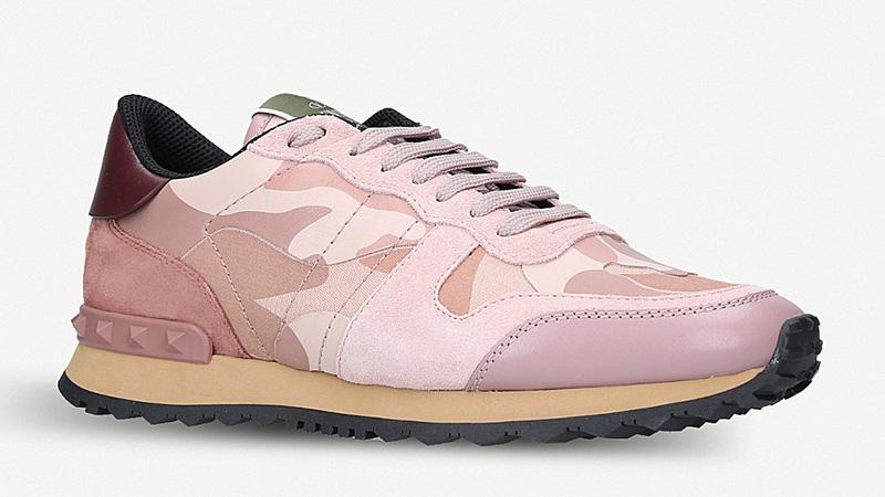Valentino Rockstud Camo Pink 01