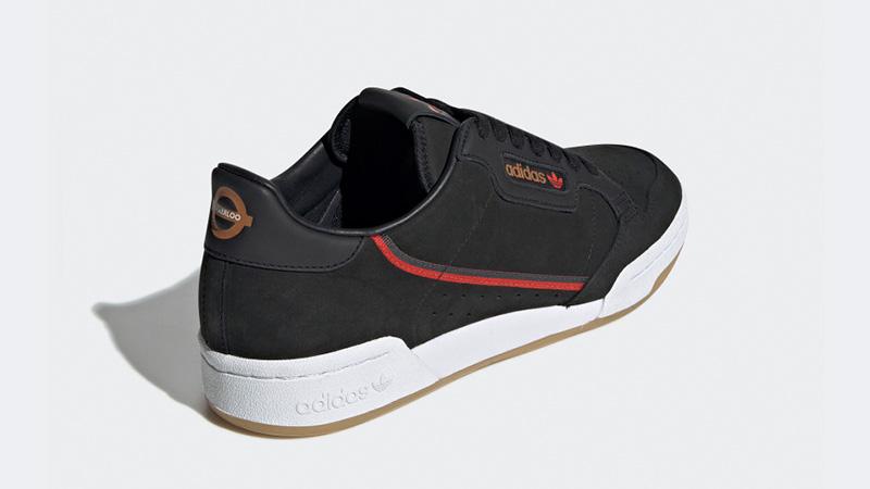 low priced abc19 2e5f6 adidas Originals x TFL Continental 80 Black Gum  EE7270