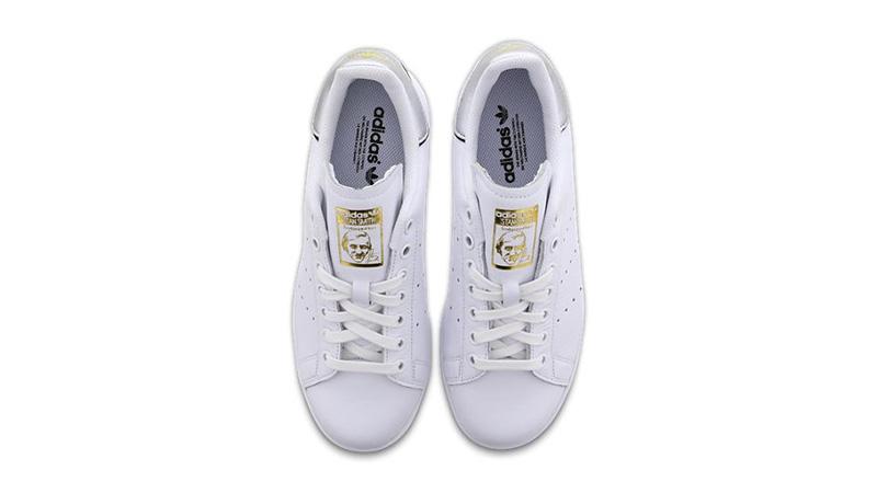 adidas Stan Smith White Metallic Womens F36795 02