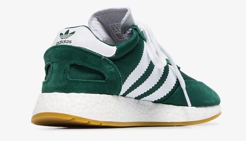 Adidas Green And White I 5923 Mesh And Suede Leather