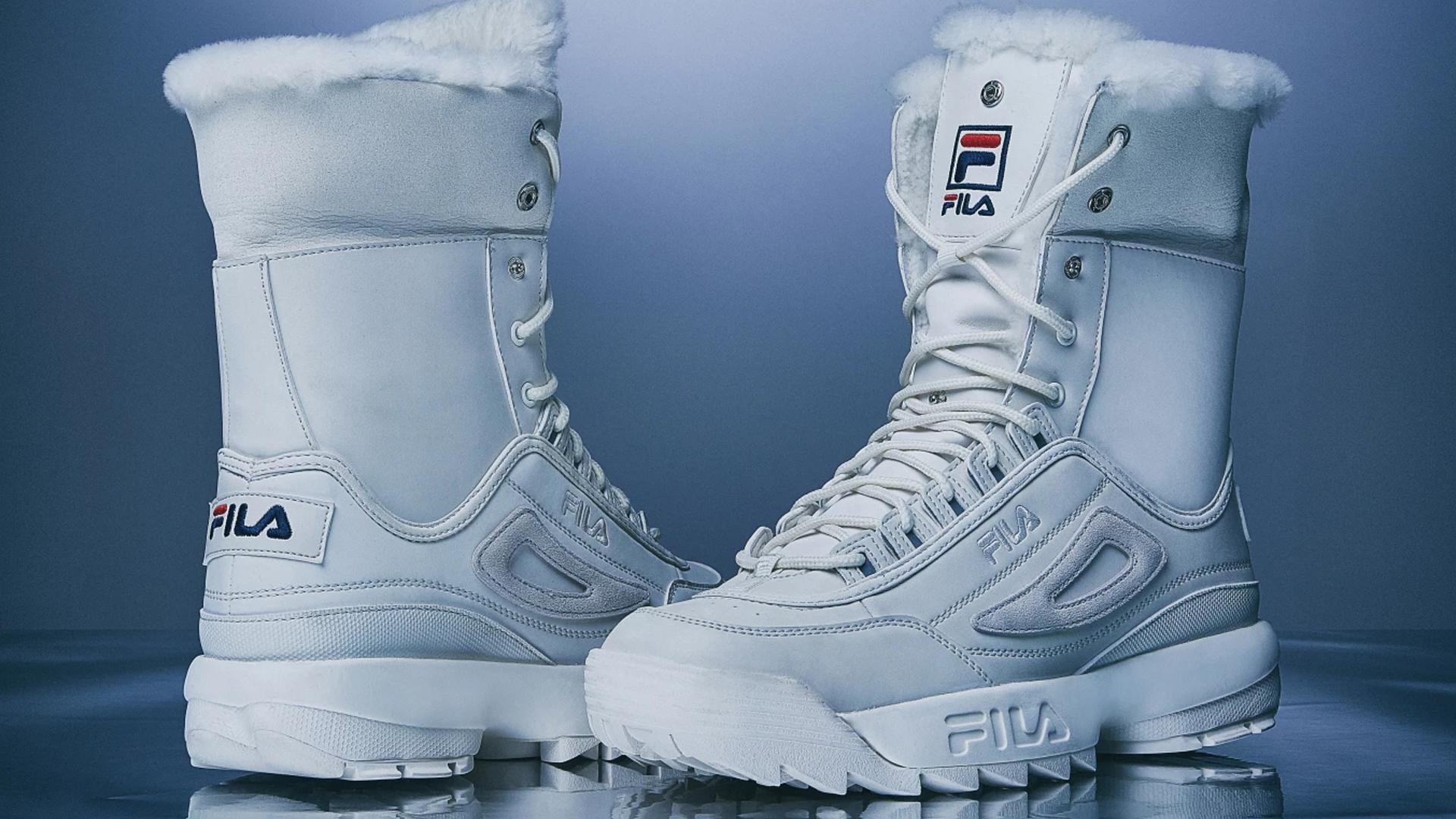 b6bc6983f Fila Disruptor Sneaker Boot White Women's   The Sole Womens
