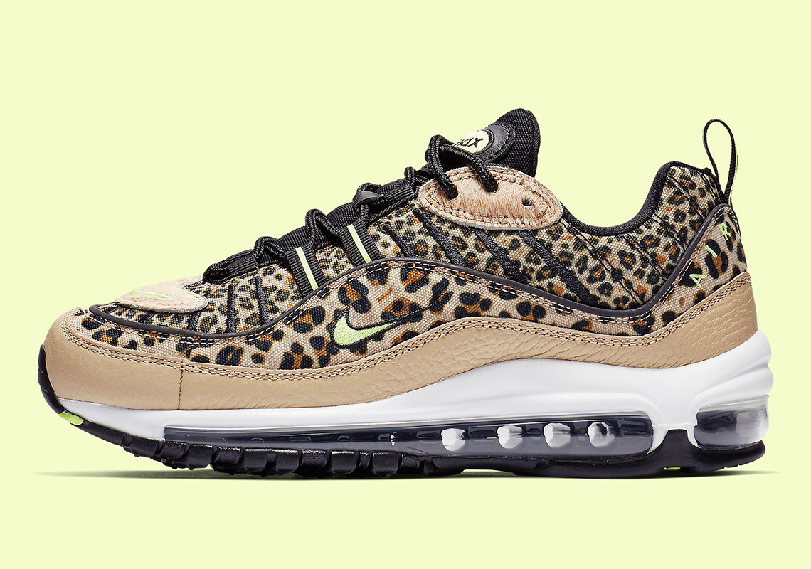 on sale da686 2134c Nike s Air Max 98 Is The Latest Sneaker To Receive A Leopard Print Makeover    Upcoming Sneaker Releases   The Sole Womens